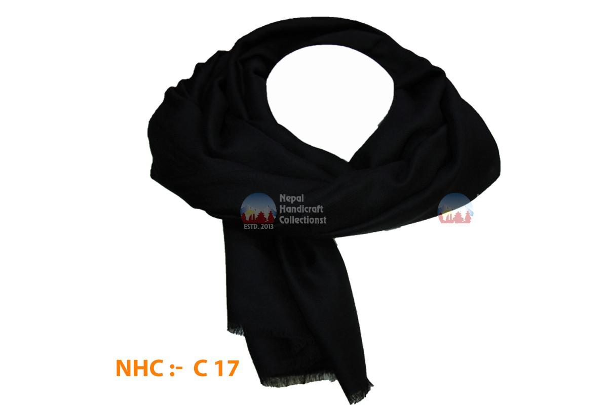 200 count  pashmina shawl black