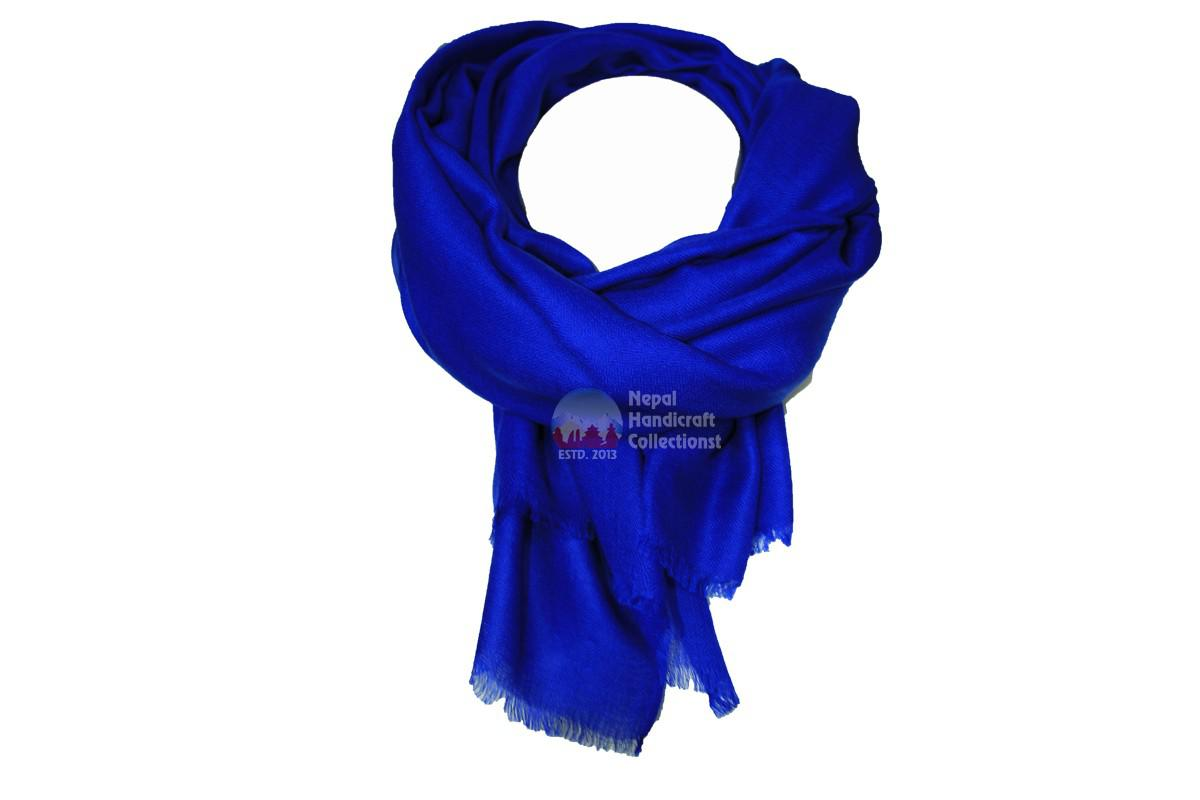 100% Cashmere/Pashmina shawl royal blue