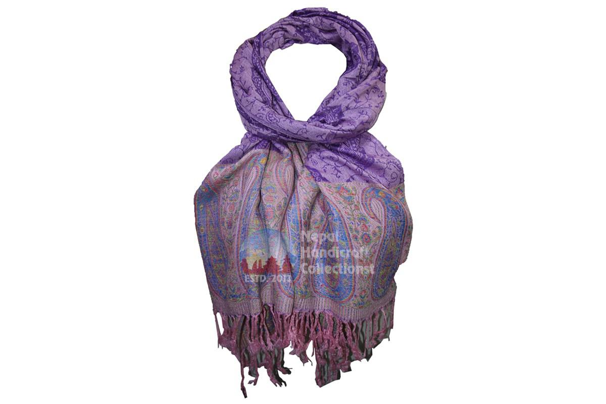 New pashmina Shawl-Handmade-in-Nepal,purple-blue